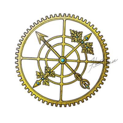 ひみこローズのアートなスピ日記(28) 運命の輪1